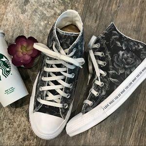 Converse Floral High Top Sneakers